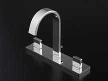 *KAKUDAI*洗面用 洗面用水栓台付2ハンドル混合栓 153-010