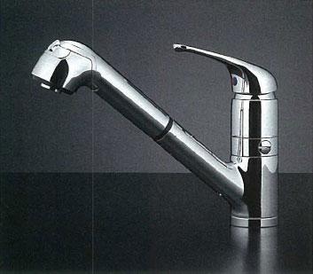 *KAKUDAI*118-038K シングルレバー引出し混合栓 [分水孔つき] [寒冷地仕様]
