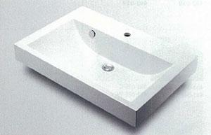 *KAKUDAI*493-070-750 角型手洗器[1ホールタイプ]