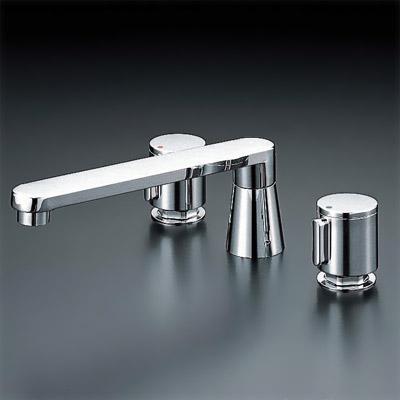 *KVK水栓金具*浴室用水栓バス用埋込2ハンドル混合栓KM85GT