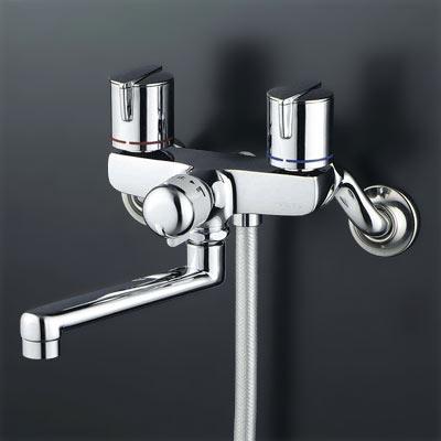 *KVK水栓金具*浴室用水栓一時止水式2ハンドルシャワーKF141GMB