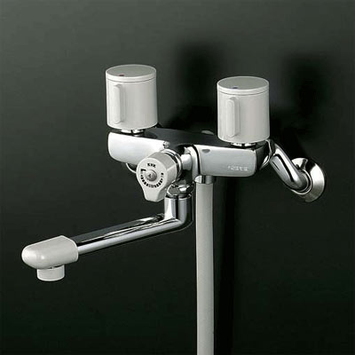 *KVK水栓金具*浴室用水栓一時止水式2ハンドルシャワーKF141G3