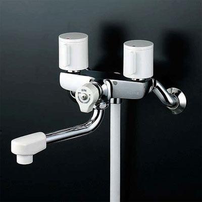 *KVK水栓金具*浴室用水栓一時止水式2ハンドルシャワーKF100G3