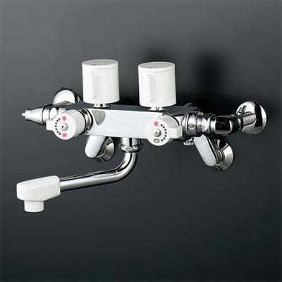*KVK水栓金具*浴室用水栓ソーラー2ハンドル混合栓 [併用形]KM53N3
