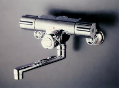 *KVK水栓金具*浴室用水栓定量止水付2ハンドル混合栓KM59G