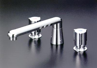 *KVK水栓金具*浴室用水栓バス用埋込2ハンドル混合栓KM84G