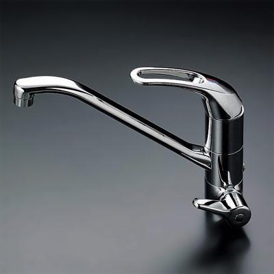 【3年保証無料】*KVK水栓金具*台所水栓 浄水器付シングルレバー式混合栓 KM323SC