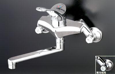 【3年保証無料】*KVK水栓金具*台所水栓シングルレバー式混合栓KM555G [2007年8月発売]