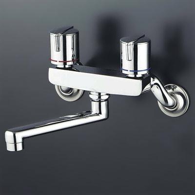 【3年保証無料】*KVK水栓金具*台所水栓2ハンドル混合栓 KM140GM