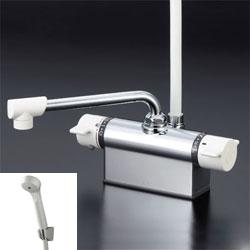 *KVK*KF801Z 水栓金具 デッキ形サーモスタット式シャワー [寒冷地用] ベーシック