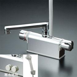 *KVK*KF771ZNTR3/KF771ZTR3/KF771ZYTR3 水栓金具 デッキ形サーモスタット式シャワー [寒冷地用] フルメタル