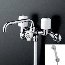 *KVK*KF104 水栓金具 一時止水付2ハンドルシャワー