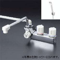 *KVK*KF207R3/KF207RR3 水栓金具 デッキ形一時止水付2ハンドルシャワー 300mmパイプ付
