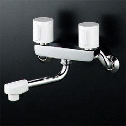 正規認証品 店舗 新規格 KVK KM2G3R24 水栓金具 2ハンドル混合栓 240mmパイプ付
