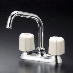 【3年保証無料】*KVK*KM17NE/KM17ZNE 水栓金具 流し台用2ハンドル混合栓