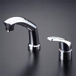 【3年保証無料】*KVK*LFB244WU20 水栓金具 シングルレバー式洗髪シャワー [寒冷地用]