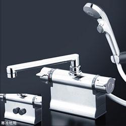 *KVK*KF3011ZTS2 水栓金具 デッキ形サーモスタット式シャワー 可変ピッチ式 寒冷地仕様