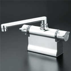 *KVK*KM3011T 水栓金具 デッキ形サーモスタット式混合栓 可変ピッチ式