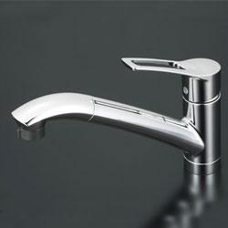 【3年保証付】*KVK*KM5031ZT 水栓金具 流し台用シングルレバー式シャワー付混合栓 寒冷地仕様