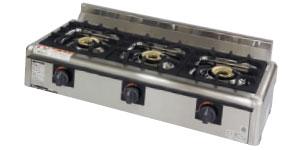 *マルゼン*M-823E[16109037] 業務用ガステーブルコンロ 3口タイプ