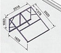 〈メーカー直送は法人宛のみ〉*ノーリツ*321A 太陽熱温水器専用架台 南向き傾斜面用・陸屋根用