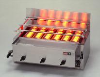 *リンナイ*RGA-406C 業務用グリル 1コック1バーナー ガス赤外線グリラー[下火式] 荒磯シリーズ