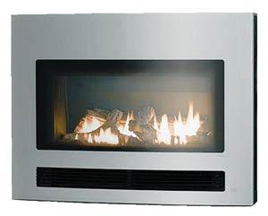 *リンナイ*ガス暖炉曲面ガラス[シルバー]RHFE-750ETR-GS