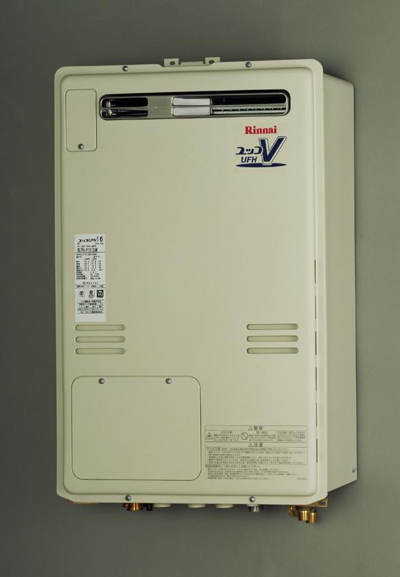 【無料3年保証/工事もご依頼で5年】*リンナイ*RUFH-V1613AW[B] 温水暖房熱源機 設置フリー屋外壁掛型 [フルオート] 16号