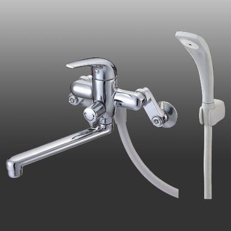 *三栄水栓金具*SK170-LH/SK170L-LH 浴室用壁付シングルシャワ混合栓
