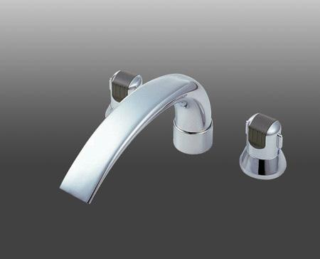 *三栄水栓金具*K9160C-L/K9160CK-L 浴室用ツーバルブデッキ混合栓 [ユニット用]