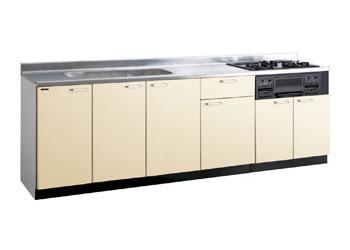 *タカラスタンダード*PIY250[L/R][PUI/PUL]+TN34-60 木製システムキッチン[P型フラット]流し台+コンロ