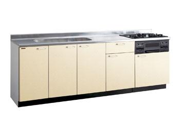 *タカラスタンダード*PIY240[L/R][PUI/PUL]+TN34-60 木製システムキッチン[P型フラット]流し台+コンロ