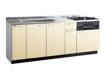 *タカラスタンダード*PIY210[L/R][PUI/PUL]+TN34-60 木製システムキッチン[P型フラット]流し台+コンロ