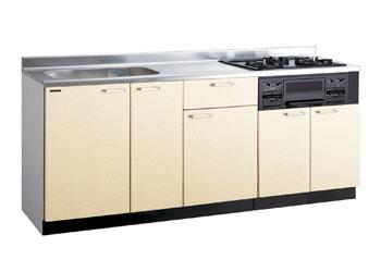 *タカラスタンダード*PIE190[L/R][PUI/PUL]+TN34-60 木製システムキッチン[P型フラット]流し台+コンロ