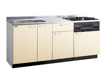 *タカラスタンダード*PIE180[L/R][PUI/PUL]+TN34-60 木製システムキッチン[P型フラット]流し台+コンロ