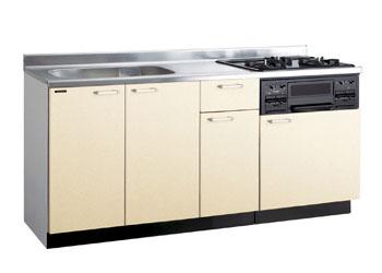 *タカラスタンダード*PIE160[L/R][PUI/PUL]+TN34-60 木製システムキッチン[P型フラット]流し台+コンロ