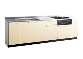 *タカラスタンダード*PIY270[L/R][PUI/PUL]+TN34-60 木製システムキッチン[P型フラット]流し台+コンロ