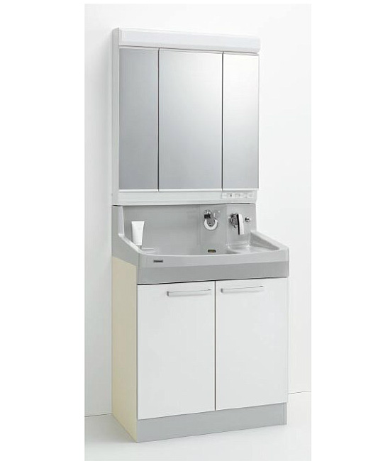 *クリナップ*ファンシオ 洗面化粧台セット 間口75cm M-753PF+BPF[H/L]75TMY 開きタイプ