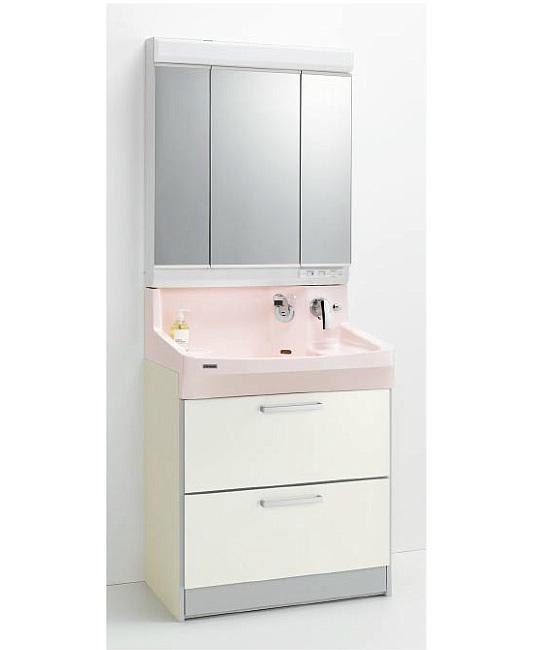 *クリナップ*ファンシオ 洗面化粧台セット 間口75cm M-753PF+BPF[H/L]75FMY オールスライドタイプ