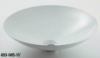 *KAKUDAI* 493-044-W[ホワイト] Kanna[鉄穴] 丸型手洗器【送料・代引無料】