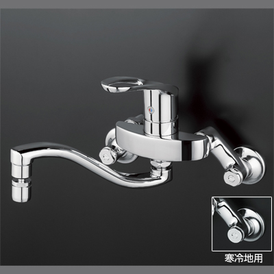 【3年保証無料】*KVK水栓金具*台所水栓シングルレバー式混合栓KM5000THS【送料・代引無料】