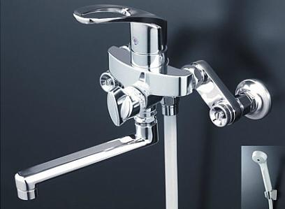 *KVK水栓金具*浴室用水栓 シングルレバー式シャワー KF5000THA【送料・代引無料】