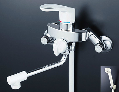 *KVK水栓金具*浴室用水栓 シングルレバー式シャワー KF5000Z 寒冷地仕様【送料・代引無料】