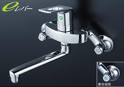 *KVK水栓金具*台所用シングルレバー式混合栓 KM5000WTEC eレバーシリーズ 寒冷地仕様【送料・代引無料】