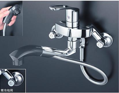 *KVK水栓金具*台所用シングルレバー式混合栓 KM5000ZTP オープンシャワーホースタイプ 寒冷地仕様【送料・代引無料】