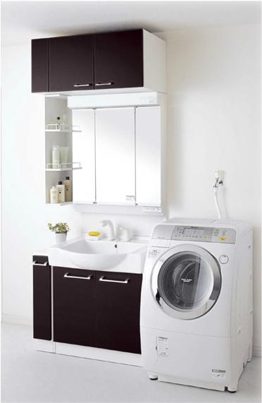 *永大産業/EIDAI* バリュータイプIII セット品番 EKZ-P90CDPTWA[L/R] 洗面化粧台セット 間口90cm 寒冷地用