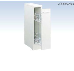 *永大産業/EIDAI* バリュータイプIII EKT-G17-F 洗面化粧台用 サイドベースキャビネット 間口17cm ホワイト