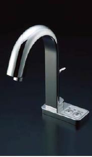 *INAX*洗面・手洗器用自動水栓 オートマージュ[グースネックタイプ] AM-123T/123TC[100V] 混合水栓 手動・湯水切替スイッチ付【送料・代引無料】
