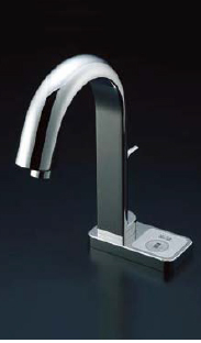 *INAX*洗面・手洗器用自動水栓 オートマージュ[グースネックタイプ] AM-121/121C[100V] 単水栓 手動スイッチ付【送料・代引無料】