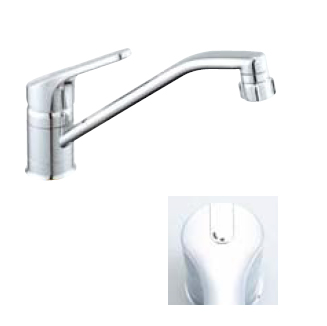 *INAX* キッチン用[キッチンシャワー付] シングルレバー混合栓 クロマーレ[エコハンドル] SF-HB442SYX[N]